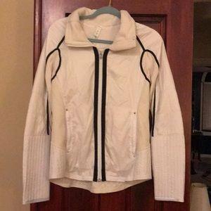 Lululemon cream quilted fleece lined jacket